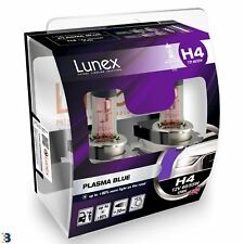 Lunex H4 Halogen Plasma Blue Headlight Car Bulbs 4200K Blue Effect Twin