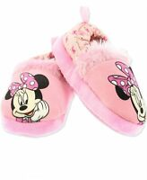 Minnie Mouse Toddler Girl's Plush A-Line Slippers, Pink, Size 5.0 z6iJ