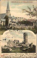 Königstein Taunus 1904 Mehrbild-AK ua. m. Garten Lokal Hotel Restaurant Procasly