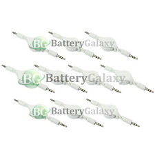10 Retractable 3.5mm AUX Auxiliary Cable Cord for Apple iPhone iPod Touch Nano