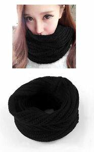 Ladies Knitted Cowl, Snood, Scarf, Neck Warmer, Winter Clothing, Rib, UK STOCK
