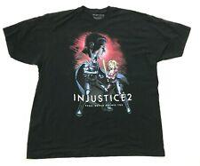 Injustice 2 Batman Chemise Taille 2XL XXL Tee Noir Harley Quinn Jeux DC Comics