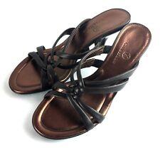 New COLE HAAN Copper Brown Open Toe High Heel Sandals Women's Size 8B