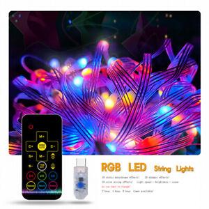 50 100 LEDs USB Fairy Garden Lights String Outdoor Party Wedding Xmas Decor