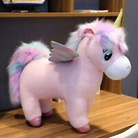 30~80cm Unique Glowing Wings Unicorns Plush toy Giant Unicorn Stuffed Animals