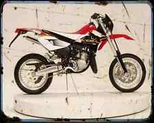 Aprilia Mx125 A4 métal signe Moto Vintage Aged