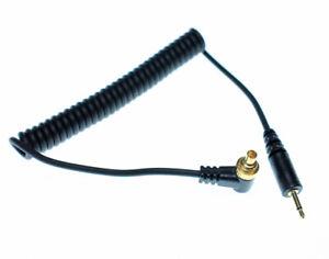 Flash Sync Cord Cable 2.5mm Male PC Plug Connector Lock Screw Strobe Trigger