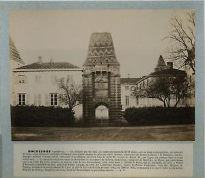 France, Château de Rochefort vintage albumen print, France Tirage albuminé