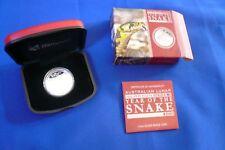 🐍2013 Lunar Year of Snake 1/2 Half oz Silver Proof Coin Perth Mint Australia 🐍