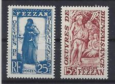 FEZZAN: SERIE COMPLETA BENEFICENZA 2 VALORI MLH* E MNH** s.6