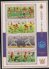 1976 Cook Islands XXI Montreal Olympic Games Souvenir Sheet Stamp MNH