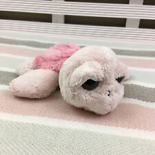 Suki Coral Pink Turtle Rattle Soft Toy Comforter 6""