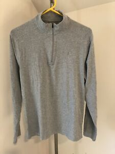 Men Coolibar UPF 50+ Medium M 1/4 Zip Pullover Shirt Sweatshirt Golf Gray