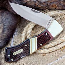 Couteau Schrade Old Timer Mountain Beaver Sr 9Cr17MoV Manche Bois Etui SCH29OT