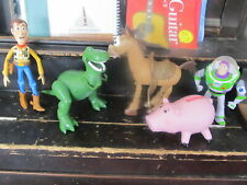 Toy Story lot of 5 figures Buzz Woody Rex Hamm Bullseye more
