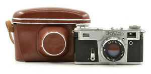Kiev-4A USSR Rangefinder Film Camera w/ Jupiter-8M 50mm F2 Lens! Read!