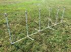 Dog Agility Equipment 6 Weave Poles on a PVC Base  FREE US shipping