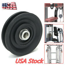 90 mm//3.54 inch heavy duty cable pulleys for fitness equipment 4 item pack