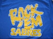 """Vintage Trench Label - 80s BUFFALO SABRES """"ROCK 'Em SABRES"""" (LG) T-Shirt"""