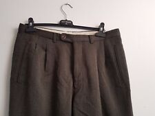 Mabitex Grey Pleated Front Trousers 100% Pure Wool Made In Italy W36 L29 IT 52