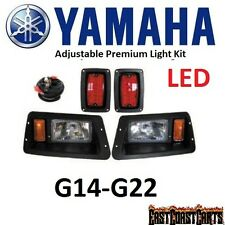 Yamaha G14-G22 Golf Cart HALOGEN HEADLIGHT KIT w/ LED TAILLIGHTS Basic Light Kit