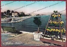VERONA PESCHIERA DEL GARDA 13 LAGO - LIMONI Cartolina FOTOGRAFICA viaggiata 1956