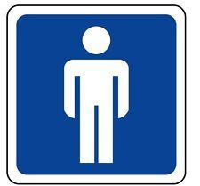 ADESIVO segnaletica toilette uomo 120x120. STICKER Toilette male sign