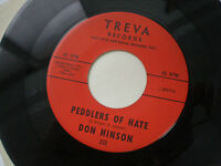 DON HINSON Peddlers Of Hate USA TREVA 1960s Listen FOLK ROCK Male-Female Vocals