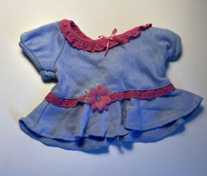 American Girl Bitty Baby Doll Twin Spring Picnic Pants Blue Pink Flower Shirt