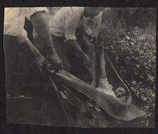 MERCURIAL QUILT WOMAN LAUGHS TRAPPED at CRUEL PICNIC ~ 1920s VINTAGE PHOTO