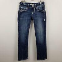 VIGOSS Straight Leg Women's Dark Wash Blue Jeans Size 5