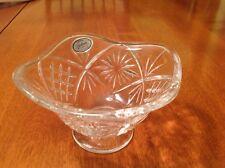 "Gorham ""1831"" Czech Republic STARLIGHT Crystal PEDASTOOL Candy Nuts Bowl Dish"