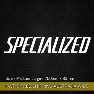 Large Specialized vinyl sticker decal 250mm Bicycle Mountain Bike Cycling