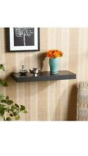 Southern Enterprises Chicago 24-Inch Square Floating Shelf in Black