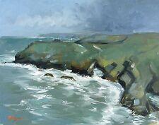 Original Oil painting - landscape / seascape - tintagel cornwall - by j payne