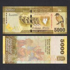 2015 SRI LANKA 5000 RUPEES P-128 UNC NR