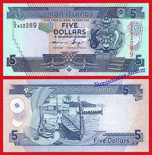 SALOMON SOLOMON ISLANDS 5 Dollars 2004-2012 Pick 26  SC / UNC