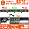 "30""inch 330W Osram LED Work Light Bar Spot Flood Combo Offroad 4x4WD ATV 31""/32"""
