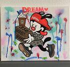 11x14 Black Light Wakko Supreme Kaws Yeezy Boost Drip Grafitti Art Animaniacs