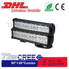 """2x72W 12"""" Cree Barre de LED 4x4 Rampe de Phare SUV ATV Buggy l'éclairage 12V 24V"""