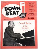 DownBeat November 2 1955 Count Basie Miles Davis  & Great Ads