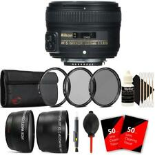 Nikon AF-S NIKKOR 50mm f/1.8G Lens and Accessories For Nikon D7000 , D7100