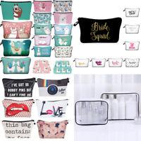 Alpaca Llama Print Cosmetic Bag Travel Pouch Women Storage Makeup Bag Coin Purse