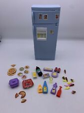 Barbie Doll House Furniture Kitchen Refrigerator Light Blue with Accessories