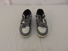 Children Youth Boy's Skechers Gray Black White Skull Nollies Shoes 32139