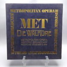 Richard Wagner Die Walkure Metropolitan Opera Historic Broadcast 3 CD BOX SET