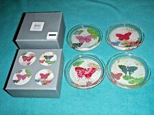 Fringe Studio Glass Coasters Butterfly Design Set Of 4