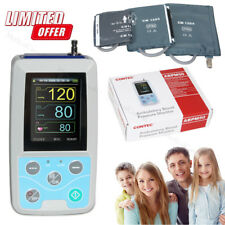 US Seller,Ambulatory Blood Pressure Monitor,3 Cuffs,24 Hours NIBP Holter,PC CD