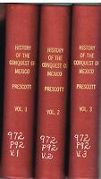 History of the Conquest of Mexico by William Prescott 1873 3 Vol. Rare Book!  $