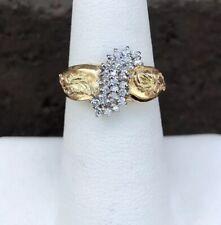 BHG 14K GOLD DIAMOND CLUSTER RING SIZE 6.5